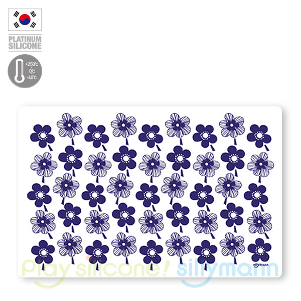 TABLE MAT(BLUE FLOWER)-L WSK327