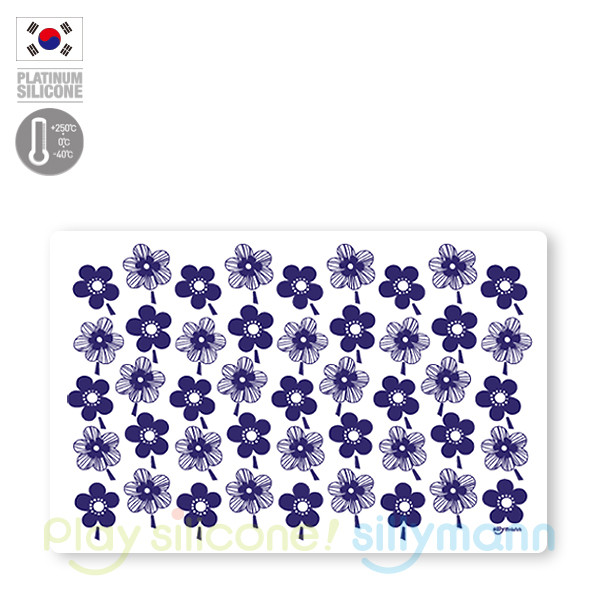 TABLE MAT(BLUE FLOWER)-L WSK317