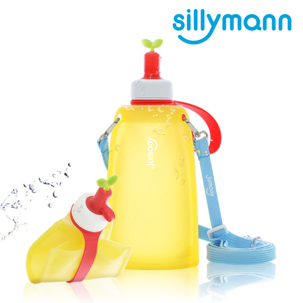 SILICONE WATER POUCH JUMONY 300ml (LEMON) WSK422