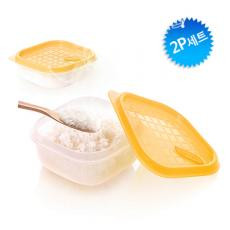 SILICONE FROZEN CONTAINER(SQUARE) 310ML 2P WSK743