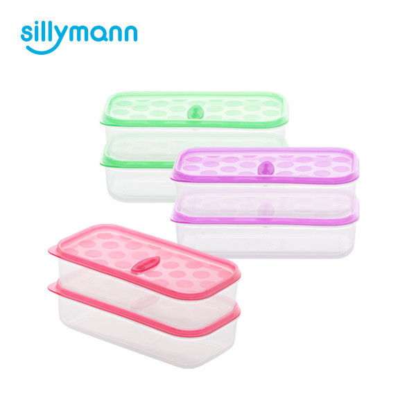 SILICONE FROZEN CONTAINER(RECTANGLE) 270ml 2P WSK770