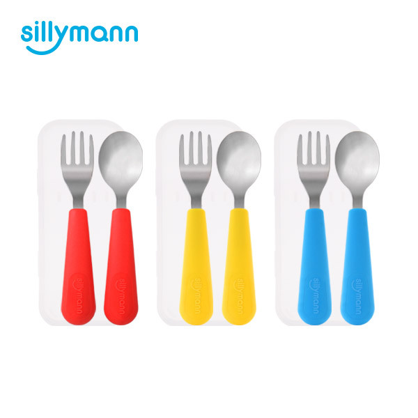 SILICONE KIDS SPOON&FORK SET WSB204