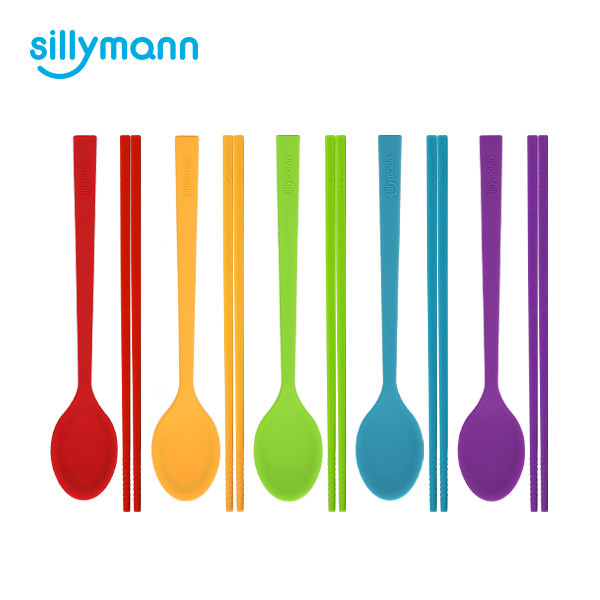 SILICONE SPOON&CHOPSTICK SET WSK377