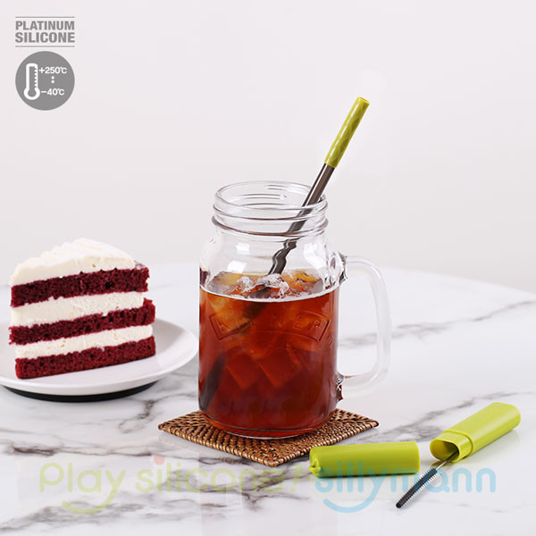 PORTABLE SILICONE STRAW SET WSB2083